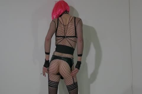 excited Crossdresser Partying At Home In concupiscent Outfit
