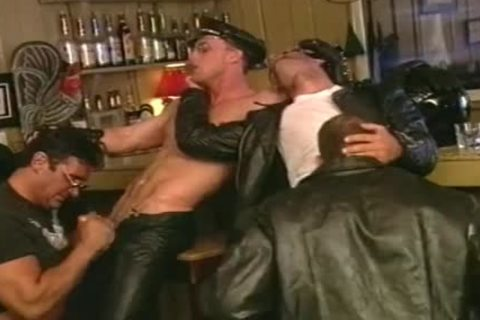 penis Hungry Biker boyz suck One another Off At The Bar