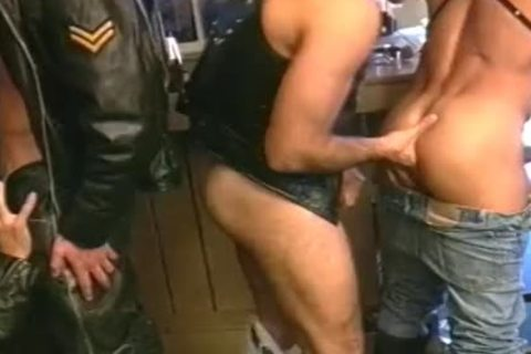 penis Loving Biker twinks receive rough In pound orgy