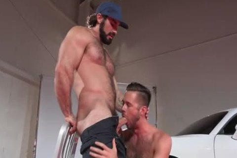 Muscle homosexual Pornstars Jaxton Wheeler And Mike De Marko In Mechanic bang homosexual butthole Scene