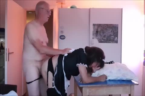 Maid Sissy Cleans house Sucks ramrod receives nailed