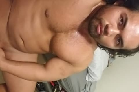 Flesh Light And ramrod Pumping Hard Post Waxing My pooper And Balls