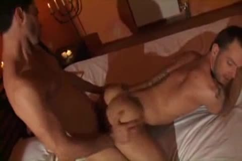 hardcore bare pounding With Two muscular Youngsters