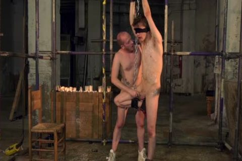 bdsm ass-copulation And fellatio With Blindfolded Restrained twink