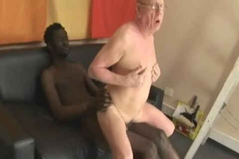 grandpa engulfing & Getting fucked By large darksome penis
