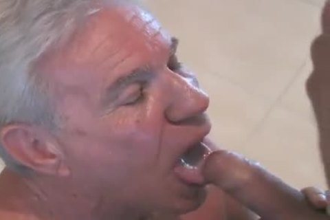 enchanting old man engulfing & Getting fucked By Younger lad