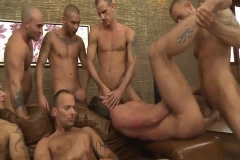 Toby Dutch gets pounded In A Seven-guy unprotected group group-sex