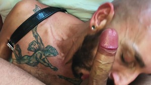 hooker Swallows The Bearded Hunk's Load - American Action