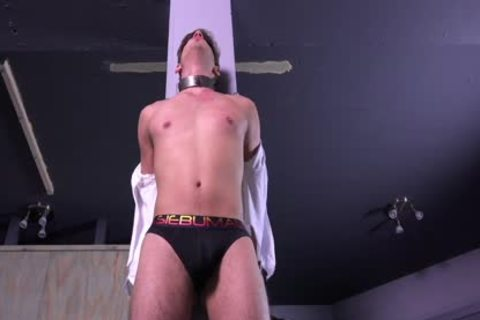 attractive Michael DelRay bound & Dominated In bdsm Dungeon
