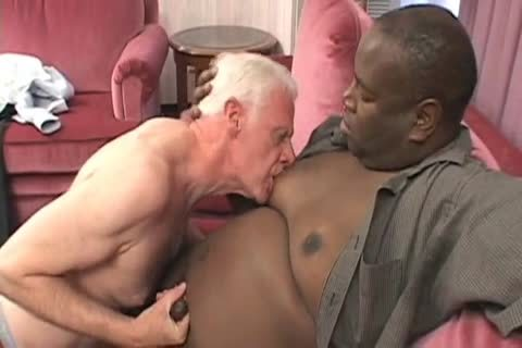 Senior pounded By chunky dark Younger lad