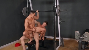 Sean Cody: Jax playing with huge cock Jayce at the gym
