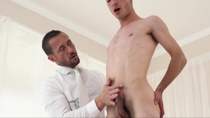 MissionaryBoys: Tall furry Elder Ormonde helps with tickle