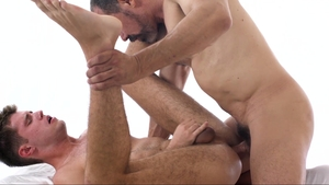 Missionary Boys: Muscled Elder Gardner stretching scene