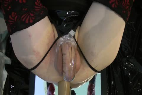 Sissy gets poked Locked By The Machine