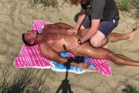 Dilf plowed On The Beach