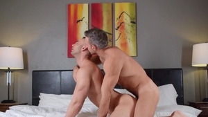 Drill My Hole: Muscled Alex Mecum tongue kissing indoors