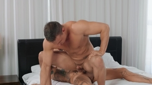 DrillMyHole.com - American Ace Quinn giving head for big penis