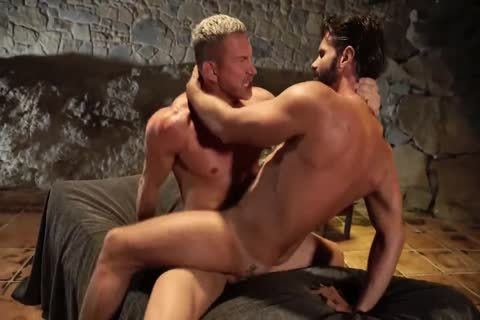 lusty Daddy plows Bearded Son outdoors