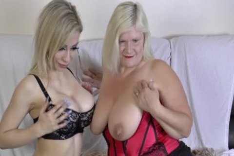 lesbian Gran Eats Out And toys wet crack
