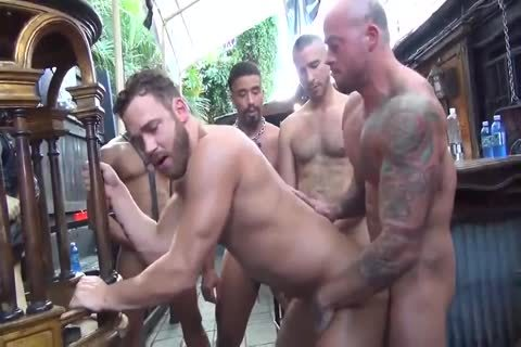 MusclePup Logan Moore acquires group team-fucked Barebacked fuck