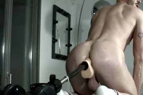 Muscled villein For Pervy plow Machine Session