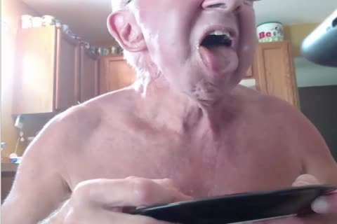 Gramps Gorges On Chocolate Bar Dipped In Own cum