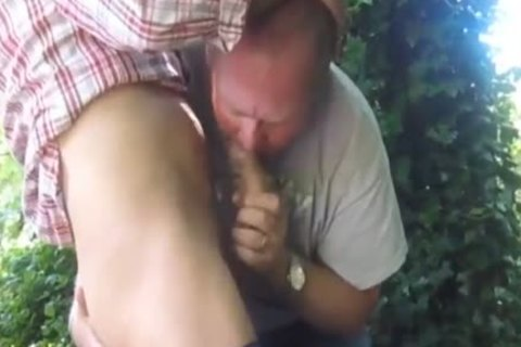 sexy Married daddy Cruising In The Woods