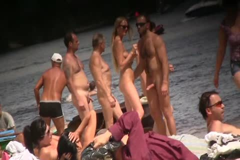 SPYING ON naked males AT THE NUDIST BEACH - VOL 1