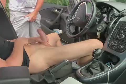 suck And cook jerking In The Car two