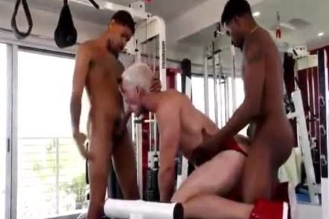 Blond rod gets banged By Two black cocks