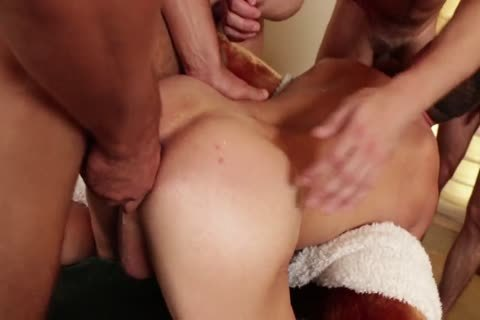 passionate plowing bunch sex, DP, love juice In booty