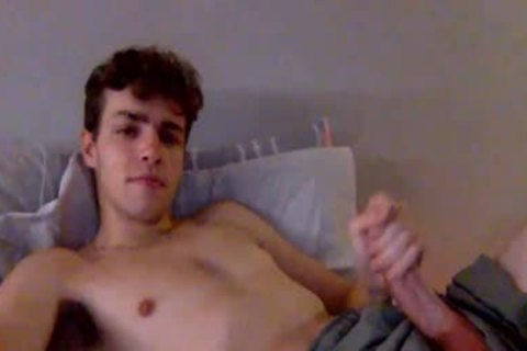 youthful twink jerking off In Live