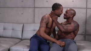 Noir Male: Shaved Titus McMasters plus Max Konnor throat fuck