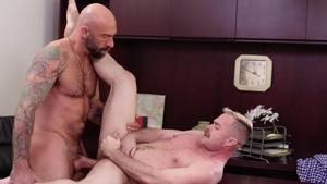 IconMale.com: Blond haired Drew Sebastian cheating outdoors