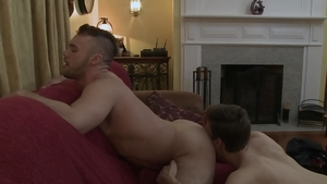 IconMale - Hairy Michael DelRay anal fucking