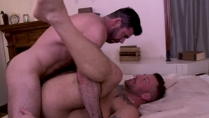 IconMale.com - DILF Hugh Hunter butt fucking