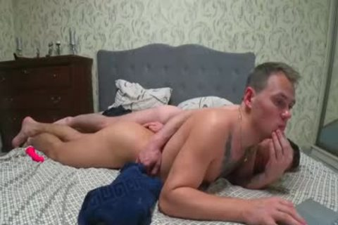 Two men Playing With Their buttholes With Dildos And End Up nailing