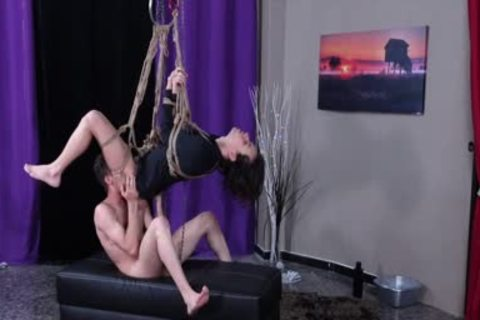 Latin wazoo Destroyed And Bred Whilst Suspended In Ropes