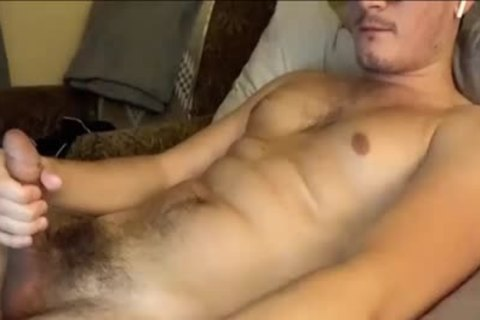 Masturbating And Touching His tight hairy butthole