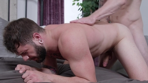 NextDoorRaw: Muscle Markie More and Johnny Hill rough kissing
