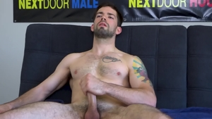 Next Door Casting: Solo Julian Brady touching huge dick