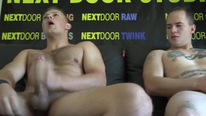 NextDoorCasting: Richard Buldger jerking big cock at castings