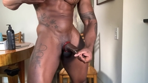 Extra Big Dicks: Athletic Max Konnor masturbating