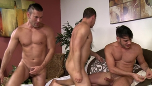 Men Over 30: Gay Adrian Cortez jerking Rego Bello monster cock