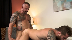 MenOver30.com - Riley Mitchel and Jon Galt kissing each other