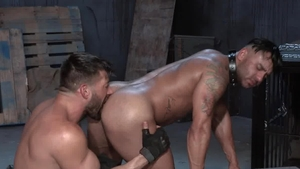 RagingStallion.com: Bruno Bernal takes dildo