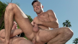 Falcon Studios: Hairy Shane Jackson helps with nailing