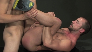 RagingStallion - Hairy Donnie Dean hard jacking off spanking
