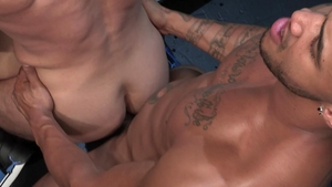 RagingStallion.com: Tattooed Jason Vario interracial bang