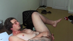 DirtyScout.com - Dirty amateur enjoys handjob